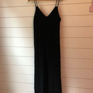 Ankle length black dress